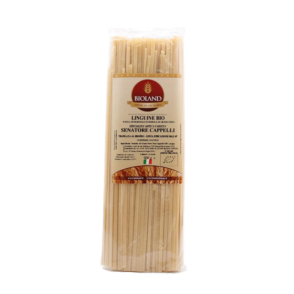 Linguine di grano duro Senatore Cappelli Bio – Trafilatura al Bronzo – 500  gr 388aec38ff2d