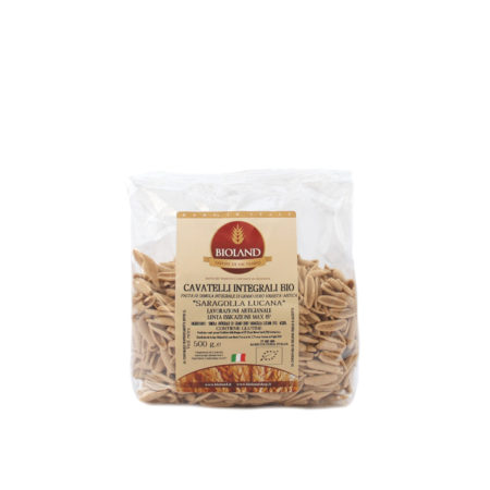 Cavatelli Integrali di grano duro Saragolla Lucana Bioland
