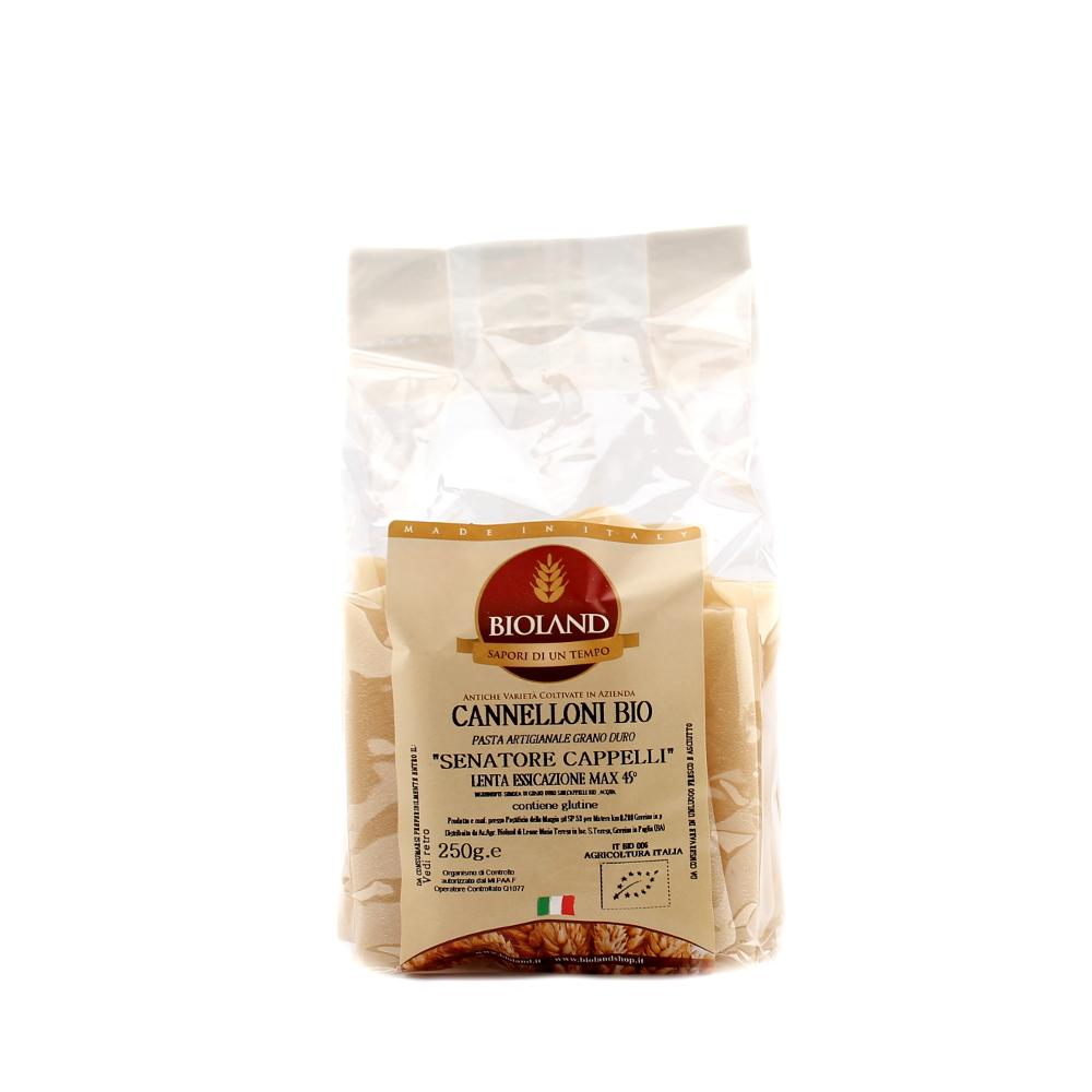 Cannelloni artigianali Bio di grano duro Senatore Cappelli 250 gr - 966e487db5c6