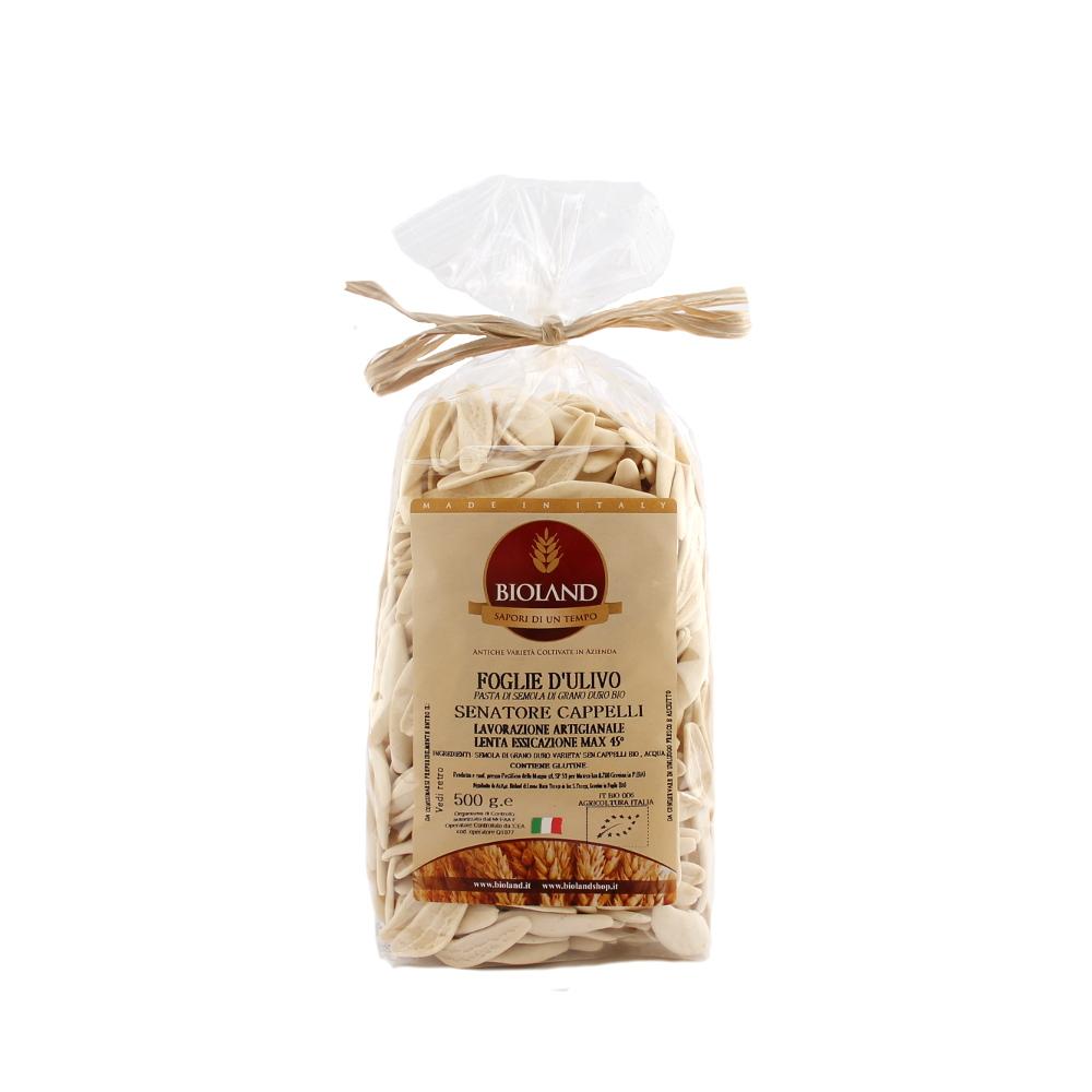 Foglie d ulivo artigianali di grano duro Senatore Cappelli Bio 500 gr - 4fb6220e0a0f