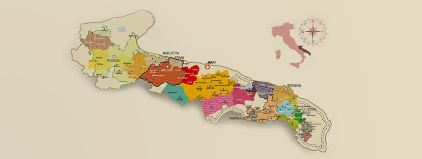 Cartina Vini Puglia.Vini Di Puglia La Guida Ai Vini Pugliesi