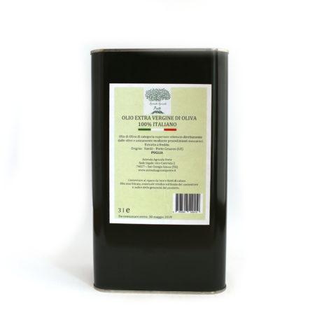 Olio extravergine di oliva Cellina di Nardò e Leccino Az. Agr. Prete 3 lt
